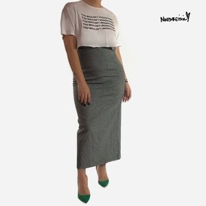Vintage NYCC Houndstooth High Waist Pencil Skirt
